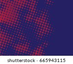 blue and red halftone | Shutterstock .eps vector #665943115