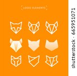 vector abstract fox logo... | Shutterstock .eps vector #665951071