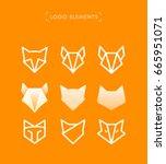 vector abstract fox logo... | Shutterstock .eps vector #665951071