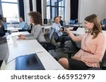 business people group... | Shutterstock . vector #665952979