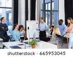 business presentation ... | Shutterstock . vector #665953045