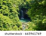 waterfall of suzaki | Shutterstock . vector #665961769