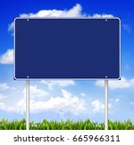 blank road sign | Shutterstock . vector #665966311