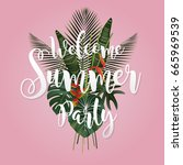 summer season poster design.... | Shutterstock .eps vector #665969539