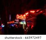 night life in reeperbahn hamburg | Shutterstock . vector #665972497