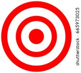 target consisting of red and... | Shutterstock . vector #665973025