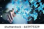 businessman on blurred... | Shutterstock . vector #665975329