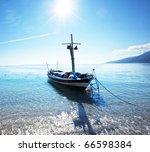boat in bay - stock photo