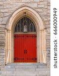 One Door On The Facade Of Sain...