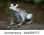 Isolate Statue Of A Frog
