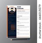clean modern design template of ... | Shutterstock .eps vector #666015079