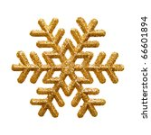 Ornamental Golden Snowflake...