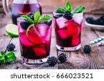 Blackberry Lemonade  Cold  Wit...
