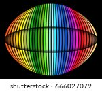 background with rainbow striped ... | Shutterstock .eps vector #666027079