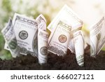 dollars bill  growth up with... | Shutterstock . vector #666027121