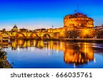 Night View Over The Tiber Rive...