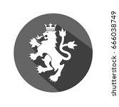 victory royal lion brand logo... | Shutterstock .eps vector #666038749