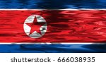 north korea flag | Shutterstock . vector #666038935