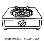 gas stoves   cartoon vector and ... | Shutterstock .eps vector #666049165