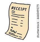 receipt paper   cartoon vector... | Shutterstock .eps vector #666049375