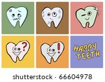 set of five dental icons on... | Shutterstock .eps vector #66604978