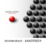 abstract leadership concept... | Shutterstock .eps vector #666050824