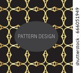 golden pattern with floral...   Shutterstock .eps vector #666051949