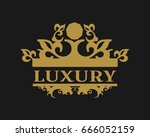 emblem template with crown.... | Shutterstock .eps vector #666052159