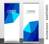 roll up business brochure flyer ... | Shutterstock .eps vector #666054001