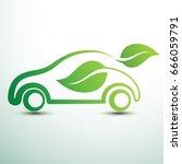 eco car concept green drive... | Shutterstock .eps vector #666059791
