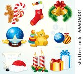 christmas set   detailed clip... | Shutterstock . vector #66606031
