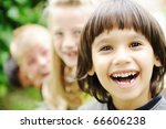 photo of happy girls with... | Shutterstock . vector #66606238
