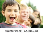 photo of happy girls with... | Shutterstock . vector #66606253