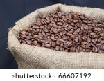 sack of coffee beans flavored | Shutterstock . vector #66607192