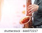 world jazz festival. saxophone  ... | Shutterstock . vector #666072217