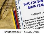 plant maintenance turnaround ... | Shutterstock . vector #666072901