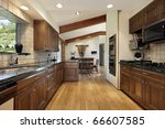 kitchen in luxury home with... | Shutterstock . vector #66607585