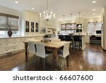 Stock photo kitchen in luxury home with white cabinetry 66607600