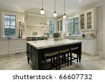 kitchen in modern home with...   Shutterstock . vector #66607732
