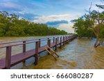 landscape of bridge. | Shutterstock . vector #666080287
