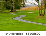 golf place with nice green and... | Shutterstock . vector #66608602