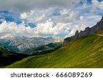 dolomiten unesco  world heritage | Shutterstock . vector #666089269