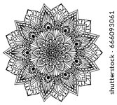 mandalas for coloring book.... | Shutterstock .eps vector #666093061