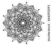 mandalas for coloring book.... | Shutterstock .eps vector #666093091