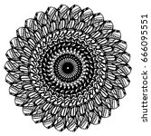 mandalas for coloring book.... | Shutterstock .eps vector #666095551