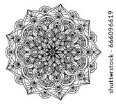 mandalas for coloring book.... | Shutterstock .eps vector #666096619