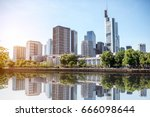 view on the financial district... | Shutterstock . vector #666098644
