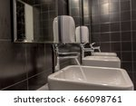 sinks for bathrooms and mirrors.... | Shutterstock . vector #666098761