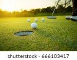 Golfer Practice Training...