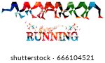 running background with people... | Shutterstock .eps vector #666104521